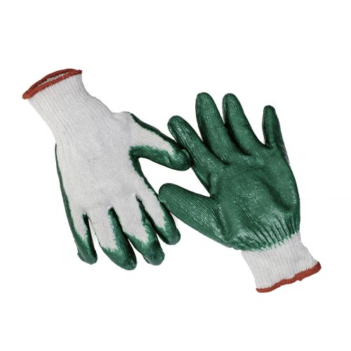 Disposable latex coated gloves 10 pairs